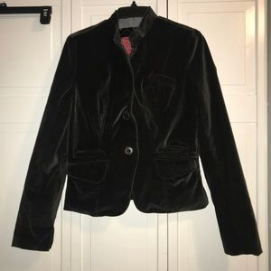 Lucky Brand Black Velvet Jacket, size Medium